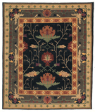 RugStudio presents Tufenkian Setana Big Donegal Ebony Hand-Knotted, Good Quality Area Rug