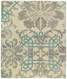 RugStudio presents Tufenkian Timpa Brocade Antoinette Hand-Knotted, Good Quality Area Rug