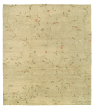 RugStudio presents Tufenkian Shakti Climbing Blossom Coral Leaf Hand-Knotted, Good Quality Area Rug
