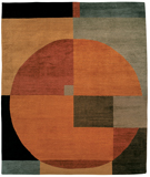 RugStudio presents Tufenkian Setana Compass Autumn Hand-Knotted, Good Quality Area Rug