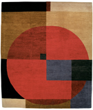 RugStudio presents Tufenkian Setana Compass Firecracker Hand-Knotted, Good Quality Area Rug