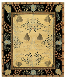 RugStudio presents Tufenkian Setana Donegal Branches Almond Hand-Knotted, Good Quality Area Rug