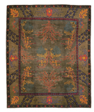 RugStudio presents Tufenkian Setana Donegal Branches Heather Grey Hand-Knotted, Best Quality Area Rug