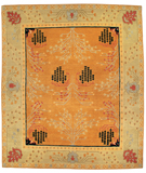 RugStudio presents Tufenkian Setana Donegal Branches Saffron Hand-Knotted, Good Quality Area Rug