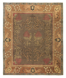 RugStudio presents Tufenkian Setana Donegal Branches Tree Rose Hand-Knotted, Best Quality Area Rug