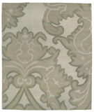 RugStudio presents Tufenkian Shakti Implied Damask Cool Mist Area Rug
