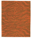 RugStudio presents Tufenkian Setana Rajah Orange Persimmon Area Rug