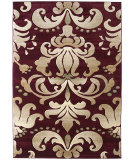 RugStudio presents United Weavers Contours Lotus 24034 Burgundy Machine Woven, Good Quality Area Rug