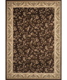 RugStudio presents World Rug Gallery Elite 7861 Brown/Floral Machine Woven, Good Quality Area Rug